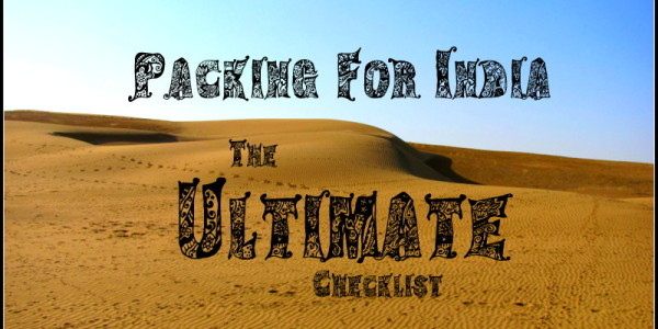 backpacking india packing list