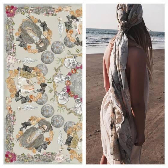 fara boutique goa silk scarf