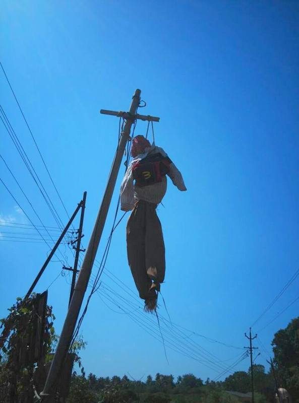 dummy hanging in india superstitious india