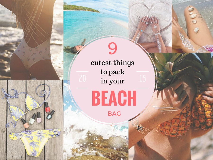 items to pack in a beach bag