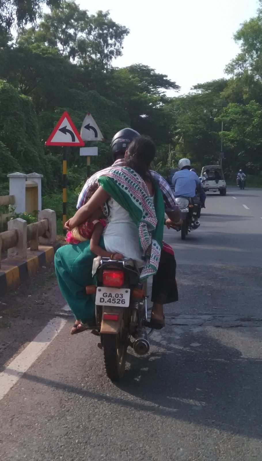 baby on scooter india