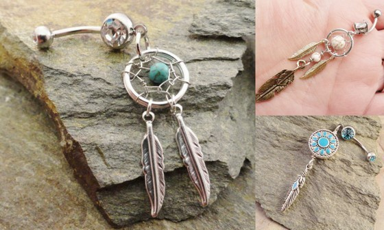Etsy Finds belly button rings