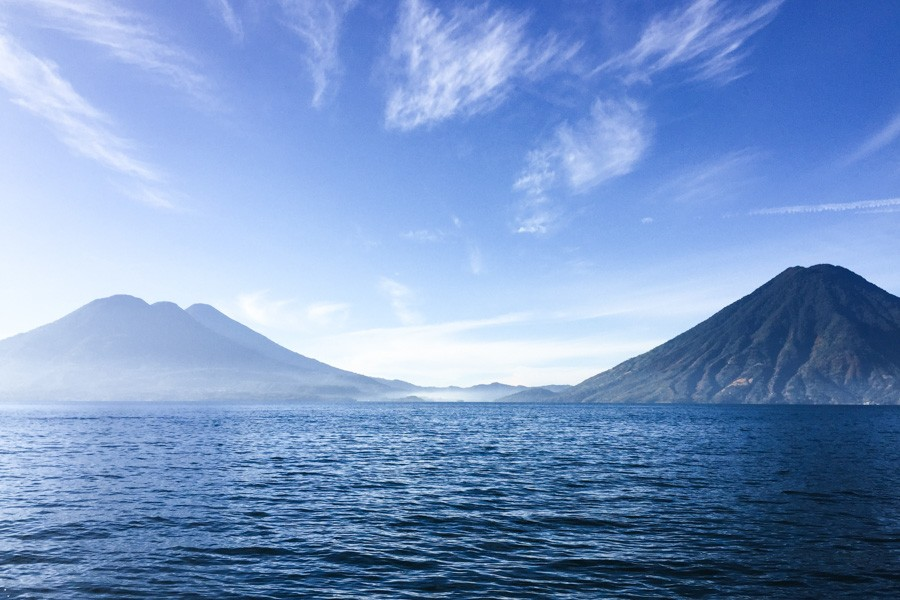 volcanoes lake atitlan guatemala