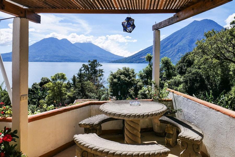 lush lake atitlan guatemala