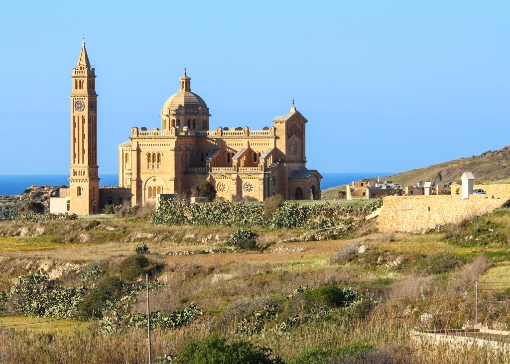 The sanctuary of Ta' Pinu in the island of Gozo, Malta