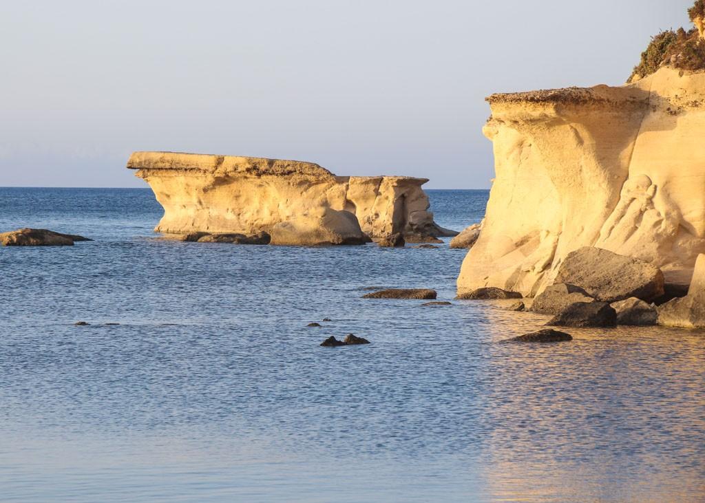 The Ghar Qawqla rock in marsalforn Gozo