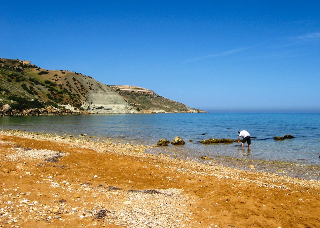 Ramla bay in Gozo, known for its red sands