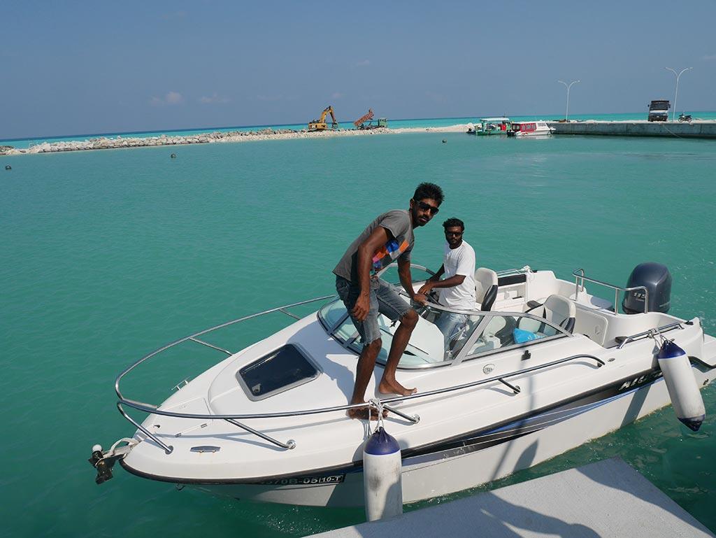 speed boat, Mirian Sky Hotel, Gaafaru, Maldives
