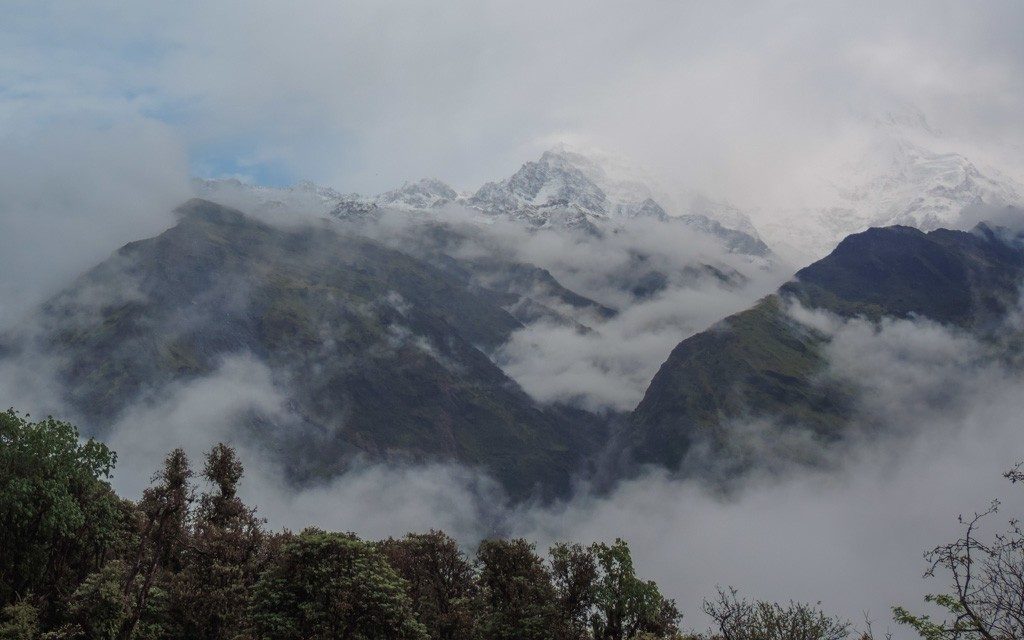 The mountain top, a mesmerising view whilst trekking in Nepal