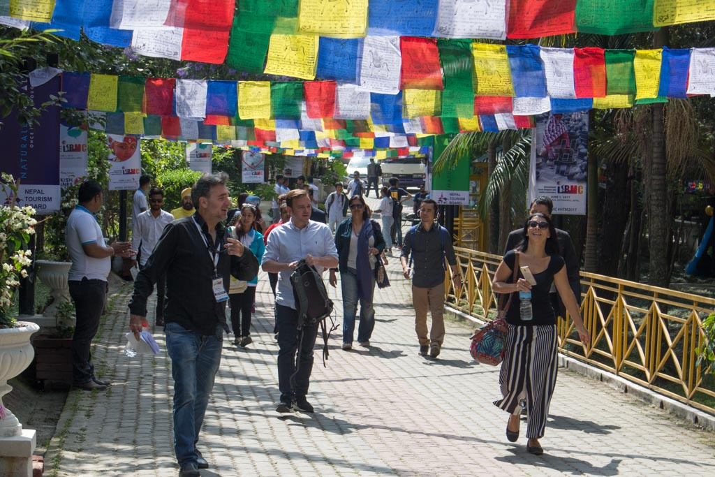 Bloggers on their way to the ITBMC - Himalayan Travel Mart 2017