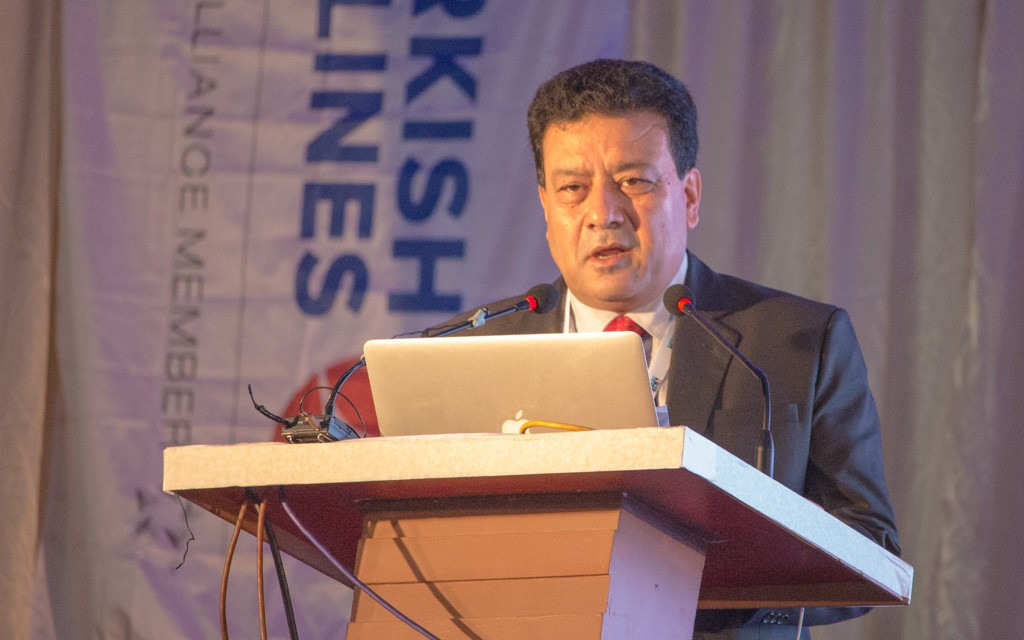 Mr. Suman Pandey, Chairman of the Pata Nepal Chapter and organiser of the Himalayan Travel Mart