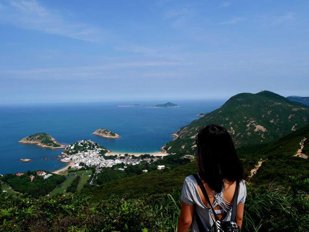 Dragon's Back hike, facing Shek O, Hong Kong