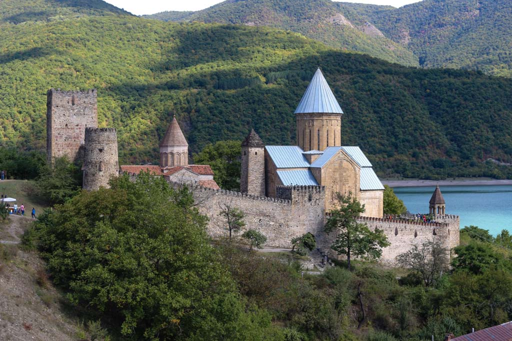 Ananuri Fortress, in the country of Georgia
