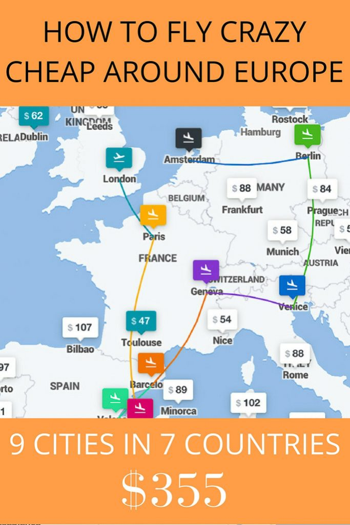 Book Cheap Flights Around Europe With This Trick (In This Example Getting to 9 Popular Cities in 7 Countries for $355)