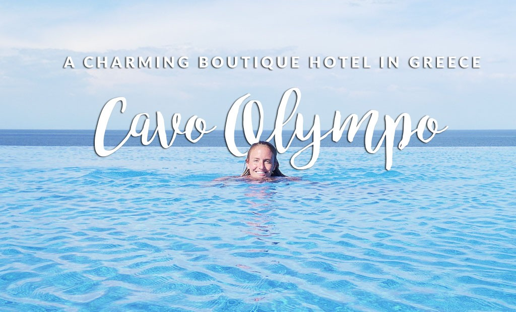 If you want an affordable luxe boutique hotel in Plaka, Greece you'll find it here. This Cavo Olympo review has images of the whole property and food.
