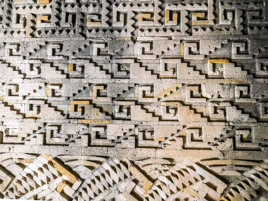 mitla ruins carvings