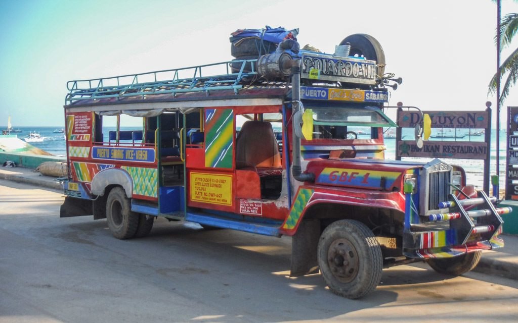 Jeepney in the Philippines - travel expenses in southeast asia