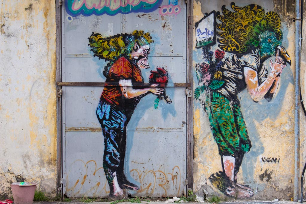 Street art in Georgetown - travel expenses in southeast asia