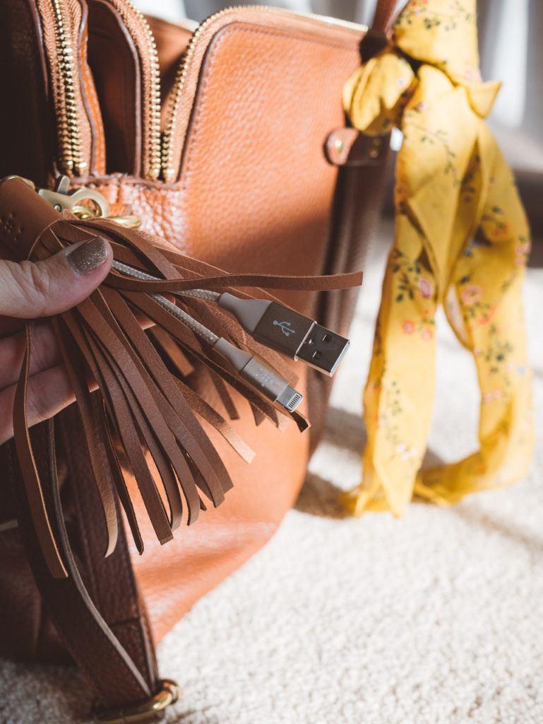 belkin leather tassle usb