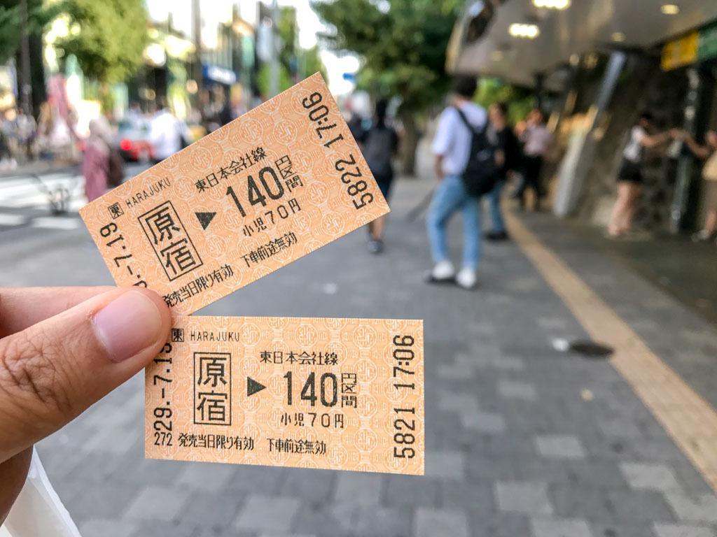 harajuku tickets tokyo JR line japan