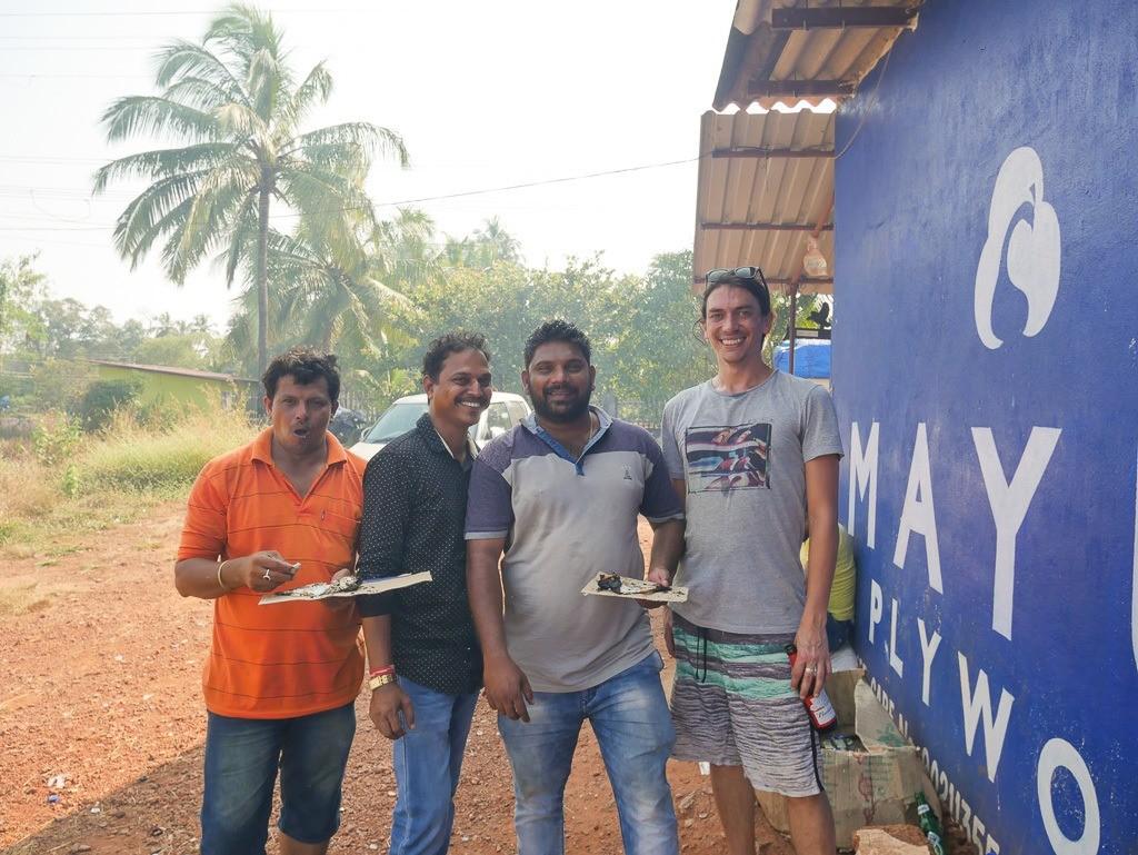 smoking mackerel in Goa
