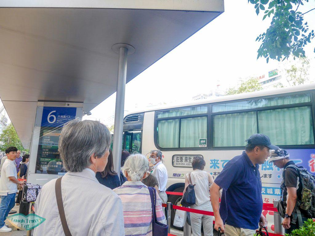 tokyo station west entrance bus to sawara tokyo japan