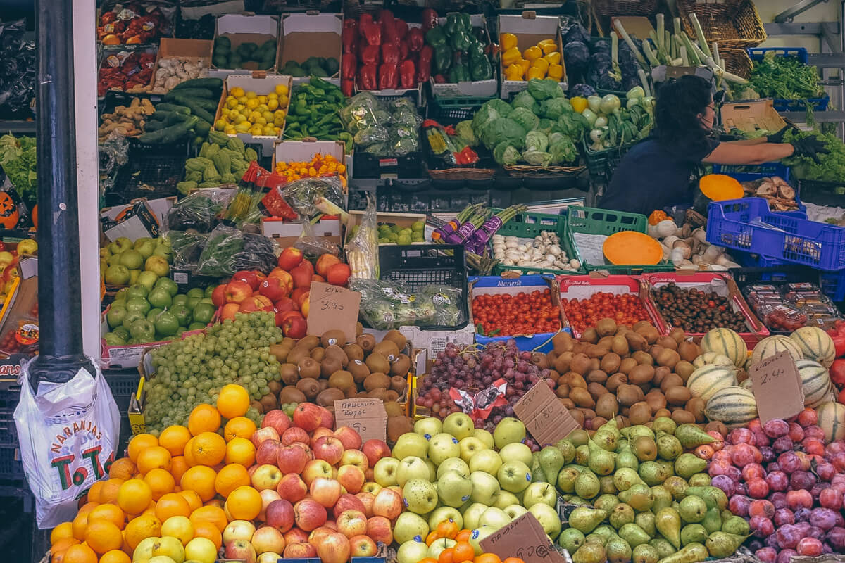 Fruits Market in Tenerife, Spain