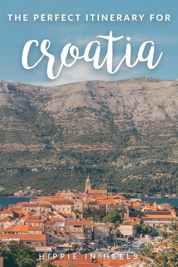 A complete Croatia travel itinerary! | croatia travel guide, dubrovnik, split, hvar, croatia travel tips, croatia travel destinations