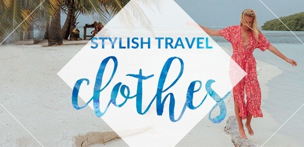 Stylish Travel Clothes Rectangle
