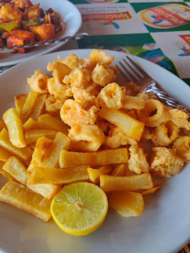 Cafe Roma Calangute Calamari
