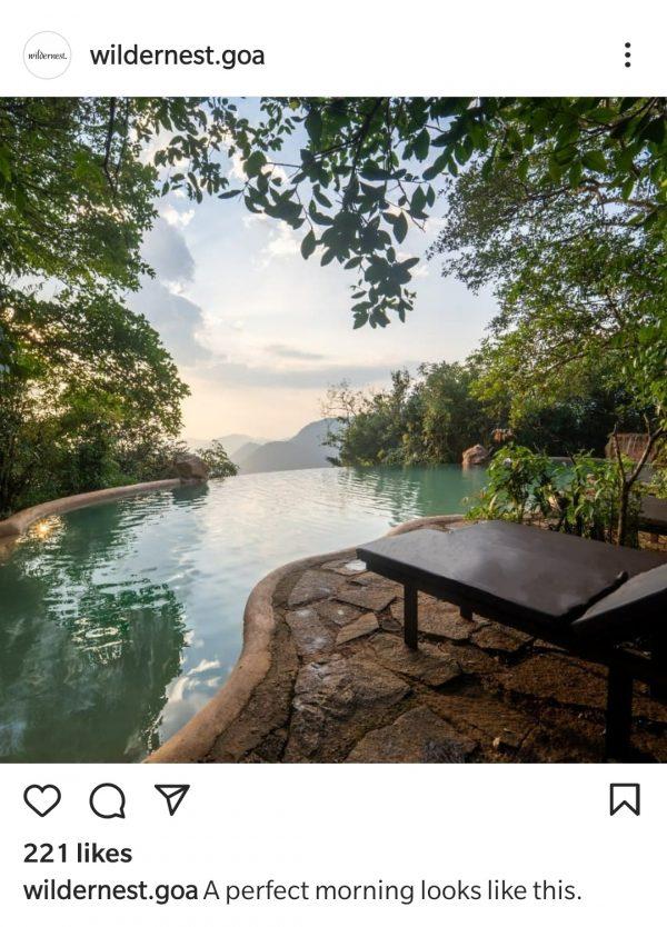 wildernest swimming pool chorla ghats