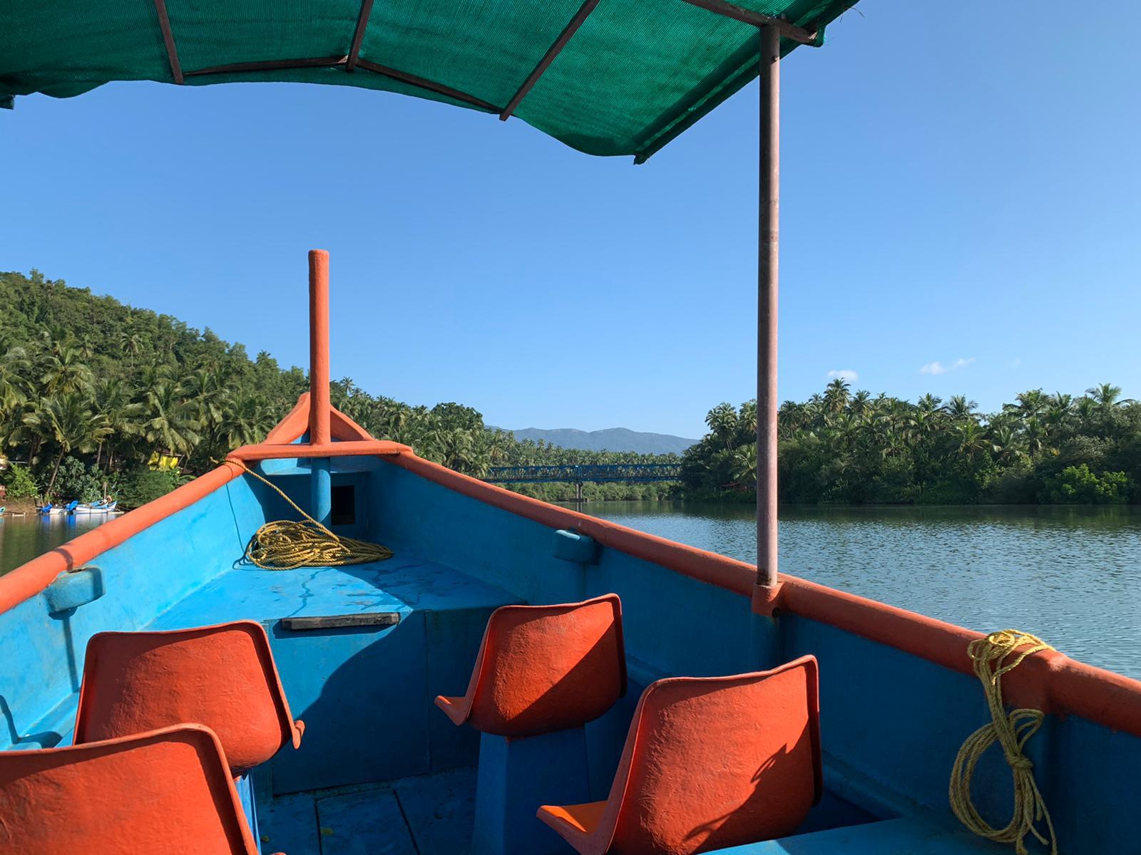 Boat trip, Galgibaga Beach, Goa, India