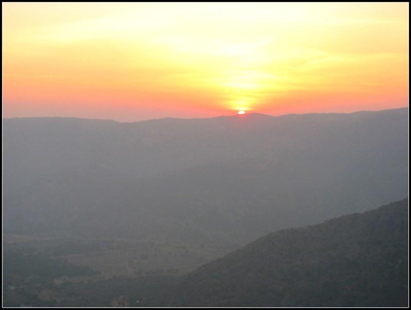 sunset, india