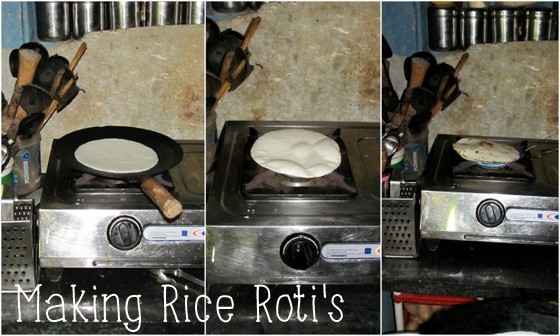 guide to south indian food making rice roti in mandalpatti india