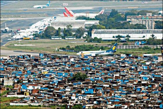 slums mumbai airport