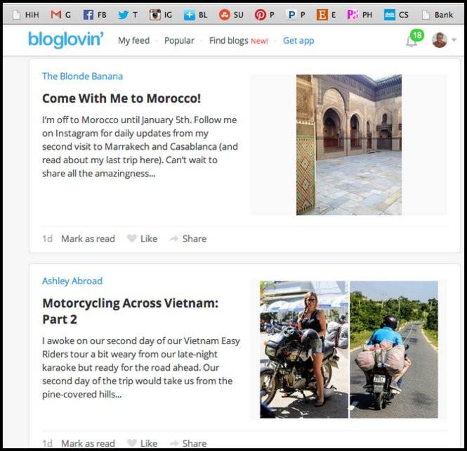 bloglovin travel blog