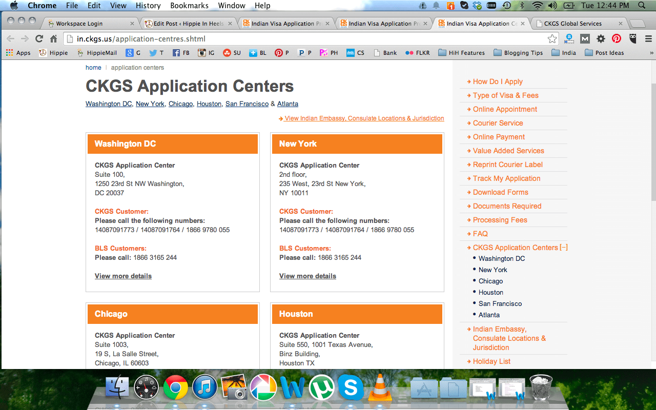 applying for an indian visa from usa